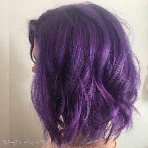 Ombre kurzes lila Haar