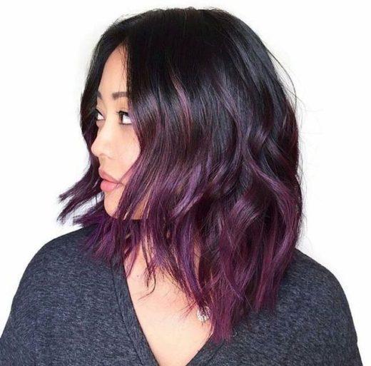 ästhetisches kurzes gefärbtes Haar