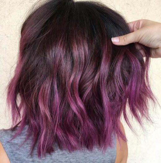 Pixie kurzes lila Haar