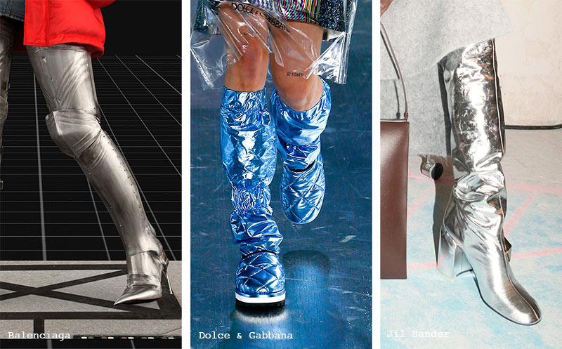 Schuhtrends Herbst/ Winter 2021-2022: Metallische Stiefel