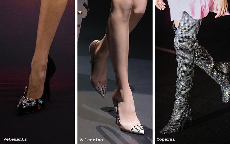 Schuhtrends Herbst/ Winter 2021-2022: Bejeweled Schuhe & Stiefel