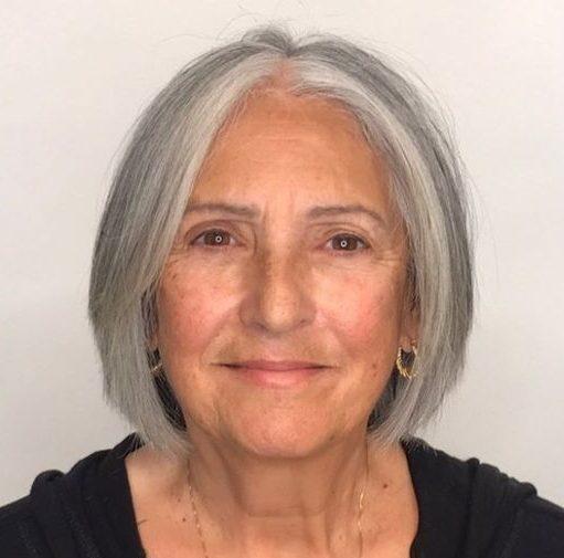 Dünnes Haar pflegeleichte Frisuren für 60-jährige Frau mit feinem Haar