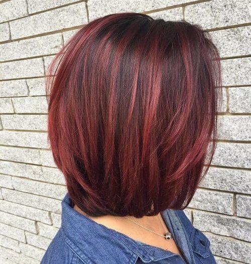 dunkelrote Haare
