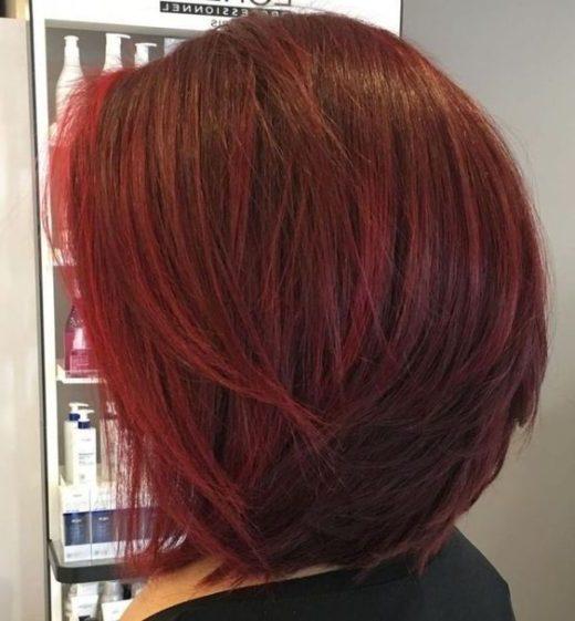 kantige kurze rote Haare
