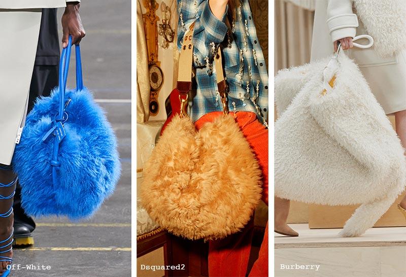 Herbst/Winter 2021-2022 Handtaschen-Trends: Pelztaschen