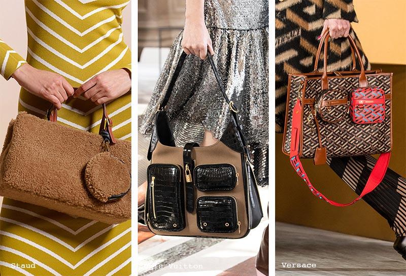 Handtaschen-Trends Herbst/ Winter 2021-2022: Taschen mit Außentaschen