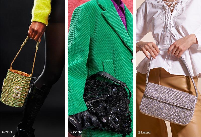 Handtaschen-Trends Herbst/ Winter 2021-2022: Glitzer-Taschen