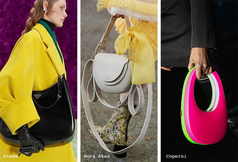 Handtaschen-Trends Herbst/ Winter 2021-2022: Halbmondförmige strukturierte Hobo-Taschen