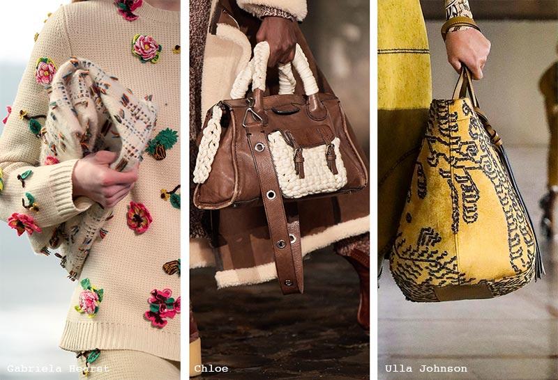 Handtaschen-Trends Herbst/ Winter 2021-2022: Taschen mit Stickerei und Weberei