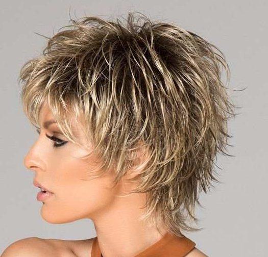Dickes Haar kurze zottelige Frisuren