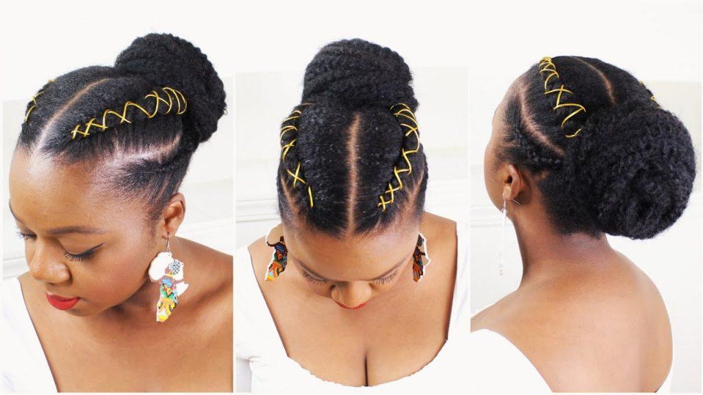 Brötchenfrisuren für schwarze Frauen 2021-2022
