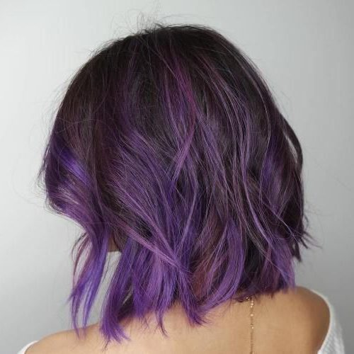 Lavendel kurzes lila Haar