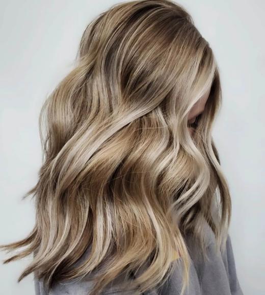 honigblondes Haar