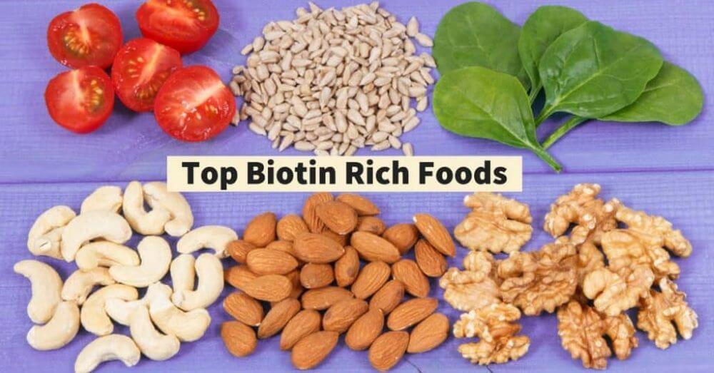 Essen Sie protein- und biotinreiche Lebensmittel