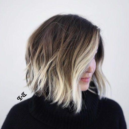 Highlights Haarfarbe für kurzes Haar
