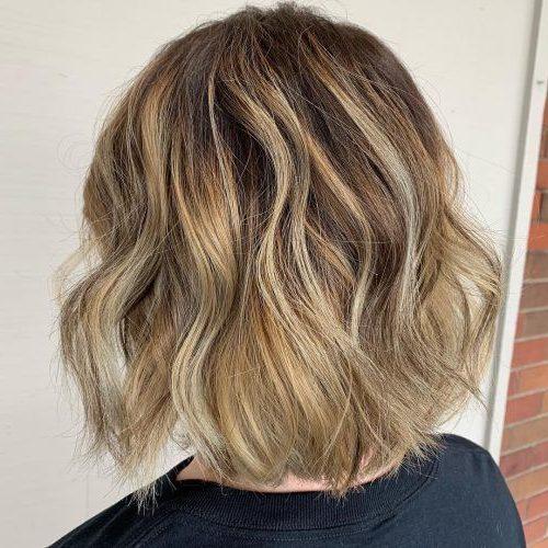 schulterlange Strandwellen kurzes Haar
