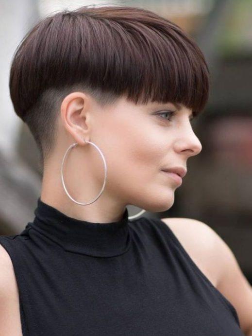 tomboy weiblich verblassen haarschnitt