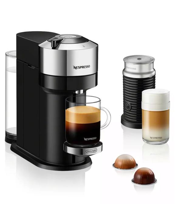 Nespresso by De'Longhi Vertuo Next & Aeroccino Milchaufschäumer Kaffeemaschine