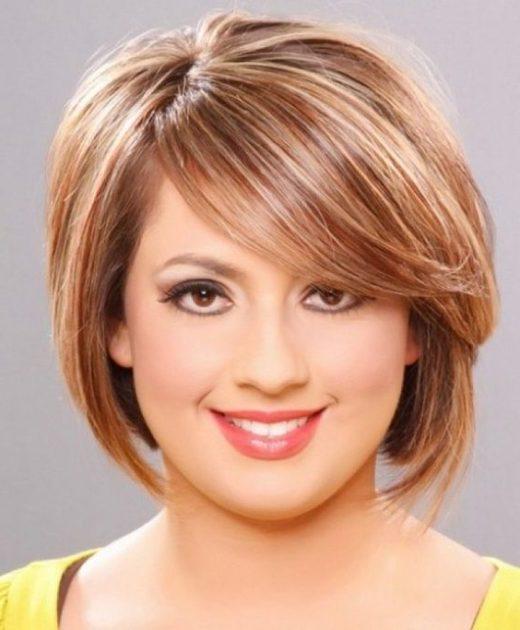Haarschnitt für fettes Gesicht Doppelkinn