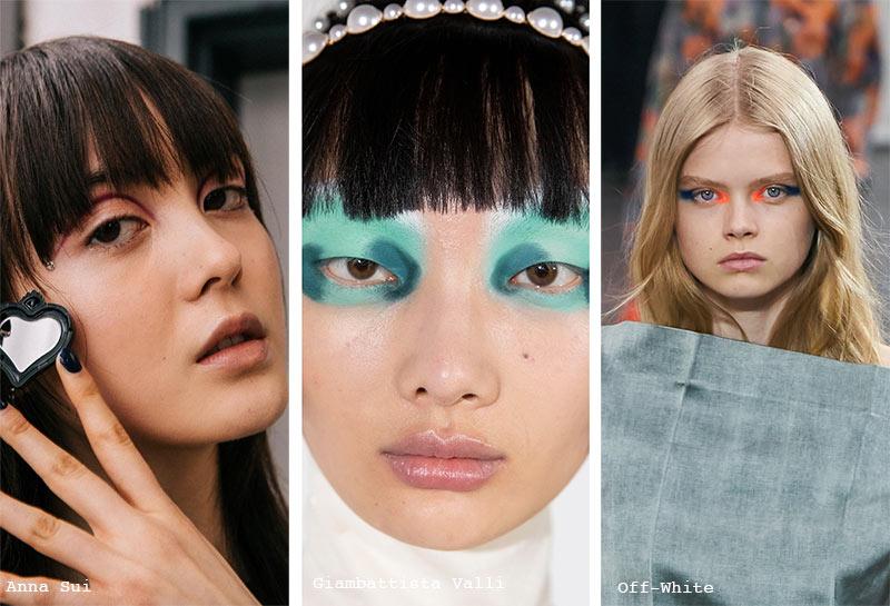 Herbst/Winter 2021-2022 Make-up-Trends: Abstraktes Augen-Make-up