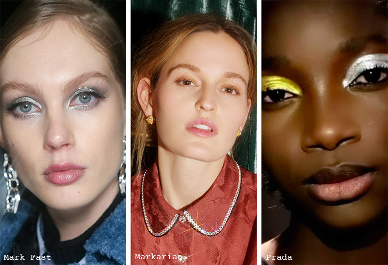 Make-up-Trends Herbst/ Winter 2021-2022: Schimmernder Lidschatten