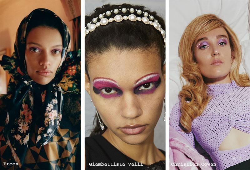 Make-up-Trends Herbst/ Winter 2021-2022: Lila Lidschatten