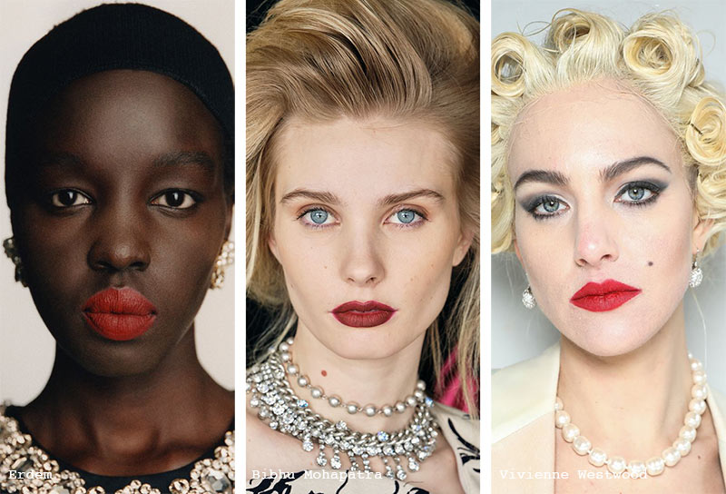 Herbst/Winter 2021-2022 Make-up-Trends: Rote Lippen