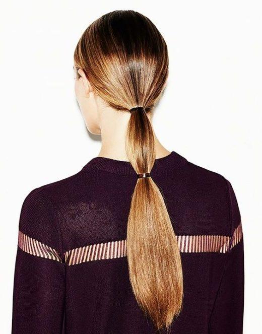 Frauen glattes kurzes Haar