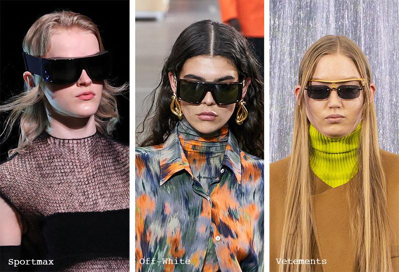 Sonnenbrillen-Trends Herbst/ Winter 2021-2022: Sonnenbrillen mit schwarzen Gläsern