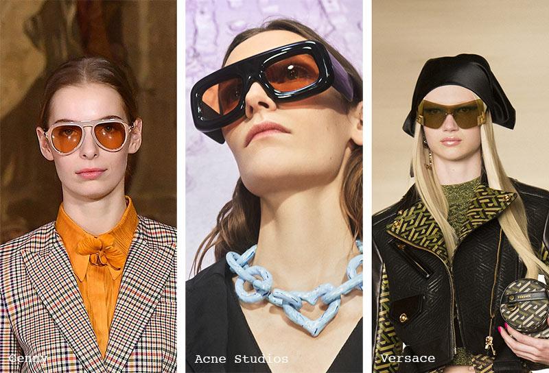 Sonnenbrillen-Trends Herbst/ Winter 2021-2022: Sonnenbrillen mit gelben Gläsern