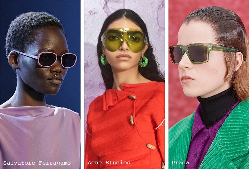 Sonnenbrillen-Trends Herbst/ Winter 2021-2022: Bunte Sonnenbrillen
