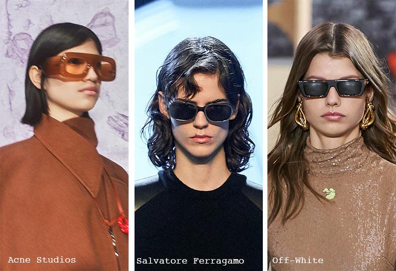 Sonnenbrillentrends Herbst/ Winter 2021-2022: Quadratische und rechteckige Sonnenbrillen