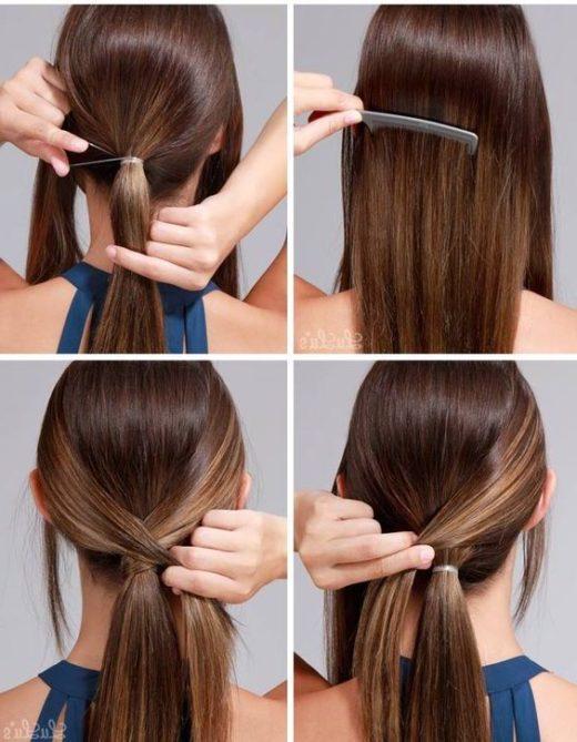faule einfache Frisuren für die Schule