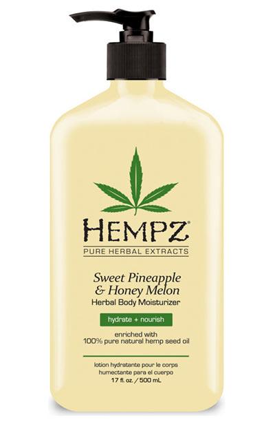 Beste Hanfsamenölprodukte für die Haut: Hempz Sweet Ananas & Honey Melon Herbal Moisturizer