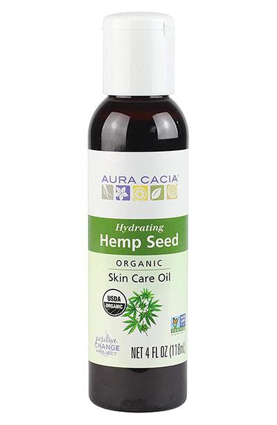 Beste Hanfsamenölprodukte für die Haut: Aura Cacia Bio feuchtigkeitsspendendes Hanfsamen-Hautpflegeöl