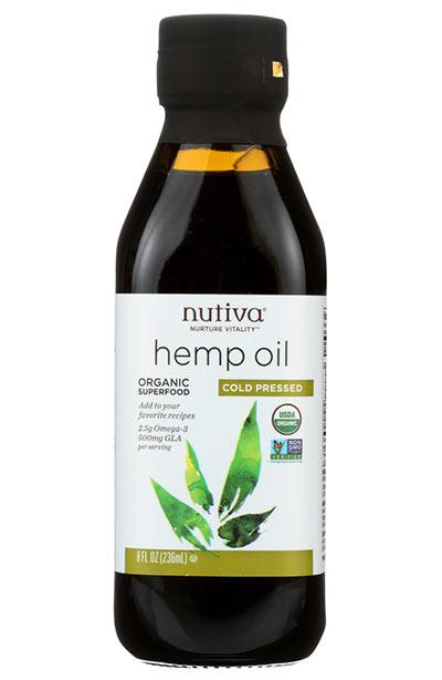 Beste Hanfsamenölprodukte für die Haut: Nutiva kaltgepresstes Bio-Hanföl
