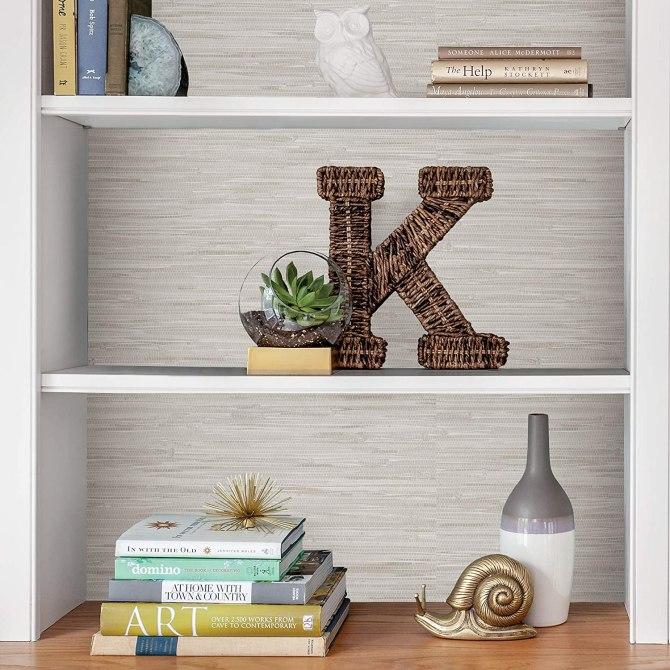Grassweave Creme Peel and Stick Wallpaper