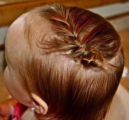 einfache Frisur für Mädchen