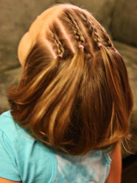 Haarschnitte für kleine Mädchen mit Pony