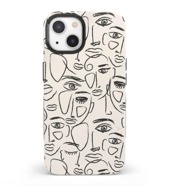 Wir sind alle Human Minimal Face Art Case