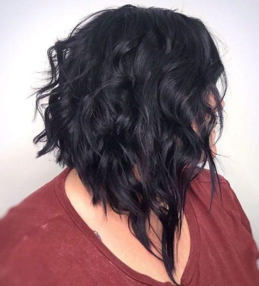 kantige kurze lockige haarschnitte