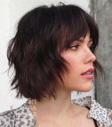 dicke haare kurze zottige frisuren