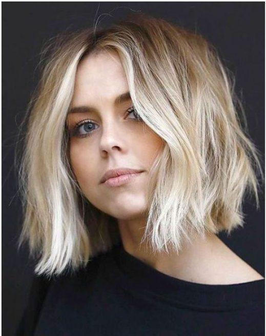 pflegeleichte kurze blonde Frisuren