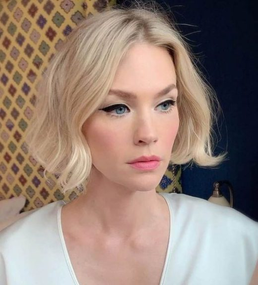kurze blonde Highlights
