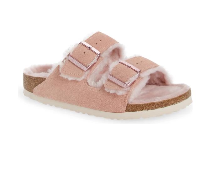 Arizona Slide Sandale aus echtem Lammfell