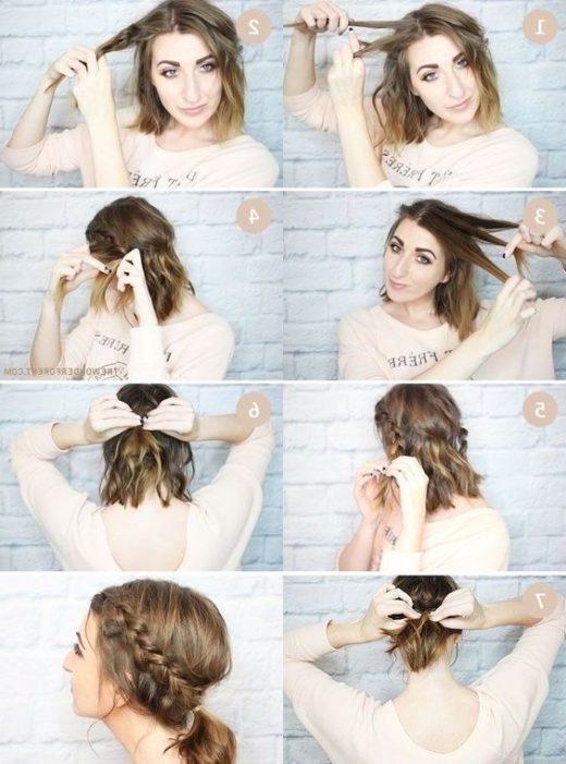 Last-Minute-Frisuren für kurze Haare