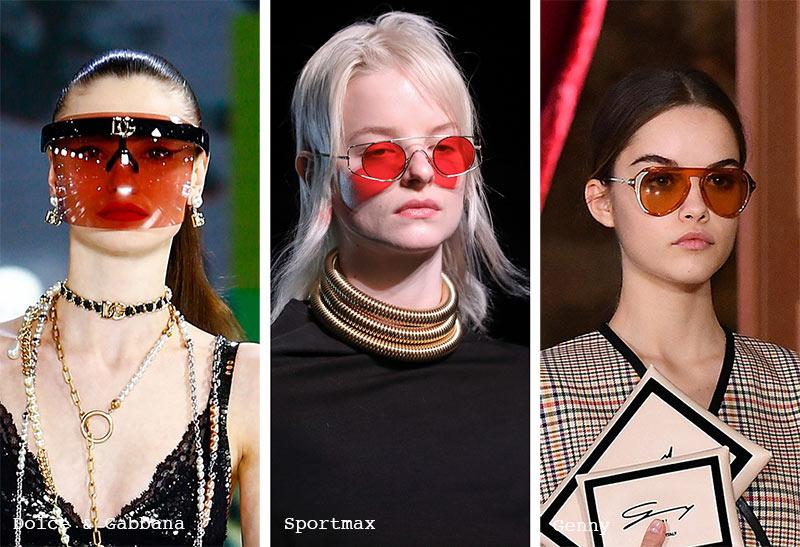 Sonnenbrillen-Trends Herbst/ Winter 2021-2022: Sonnenbrillen mit roten Gläsern
