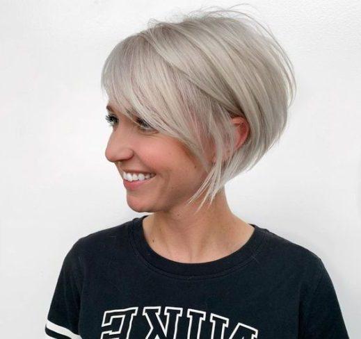 feines Haar kurz gestapelte Bob-Haarschnitte für dünnes Haar