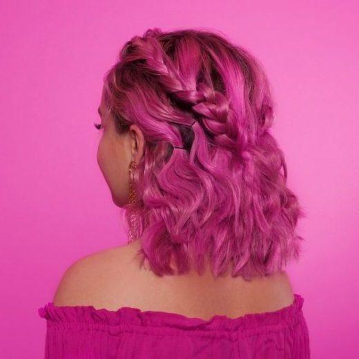 pastellrosa haare