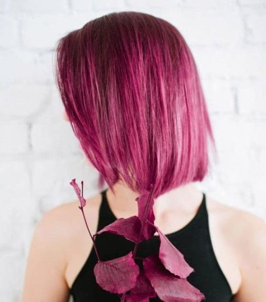 rosa mit langen haaren